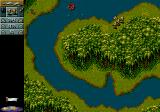 Cannon Fodder Genesis you can swim in that river, but you can't fire while in it