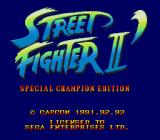 Street Fighter II': Special Champion Edition Genesis Title Screen