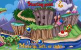 Amazing Learning Games with Rayman DOS The adventure map screen.