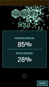 Ingress iPhone Successfully completed a three glyph hack.