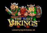 The Lost Vikings Genesis Title screen
