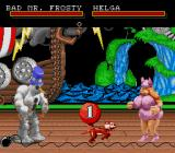 Clay Fighter Genesis Bad Mr. Frosty vs. Helga