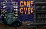 NY Warriors Amiga Game over and high score list.
