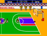 Great Basketball SEGA Master System USA scores two points