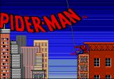 Spidey swings in as the title screen loads