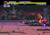 Teenage Mutant Ninja Turtles: Tournament Fighters Genesis It's disco time!