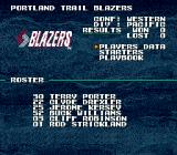 Tecmo Super NBA Basketball Genesis Team data