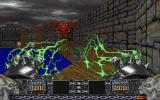Heretic: Shadow of the Serpent Riders DOS Using the Gauntlets to shock a Gargoyle
