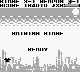 Batman: The Video Game Game Boy Batwing Stage - Ready