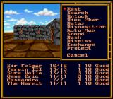 Might and Magic II: Gates to Another World SNES Exploring one of large cities