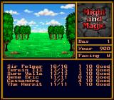 Might and Magic II: Gates to Another World SNES In the wilderness