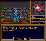 Might and Magic II: Gates to Another World SNES A wizard who has a quest for you.