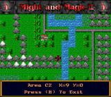 Might and Magic II: Gates to Another World SNES The map can be zoomed in or out.