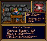 Might and Magic II: Gates to Another World SNES In a tavern