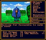 Might and Magic II: Gates to Another World SNES Combat - you can only see one enemy at a time but you will often be outnumbered by your enemies.