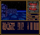 Might and Magic II: Gates to Another World SNES Night