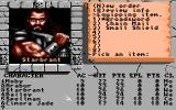 The Bard's Tale Construction Set Amiga Equipping gear.