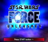 Star Wars: The Force Unleashed PlayStation 2 Title screen.