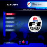 F1 Career Challenge PlayStation 2 Main menu.