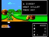Miracle Warriors: Seal of the Dark Lord SEGA Master System One of the enemies are having a go at you