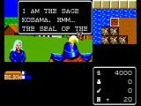 Miracle Warriors: Seal of the Dark Lord SEGA Master System Talking to the Sage of Kosama