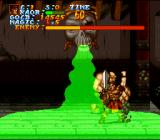 Legend  SNES Using a spell  in a boss-fight. Much like in Golden Axe, you can pick up magic bags that allow you to use spells.