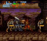 Legend  SNES Fighting a group of skeletons