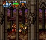 Legend  SNES The game looks very good, but sometimes the graphics can get in the way.