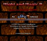 Might and Magic II: Gates to Another World SNES Legal info