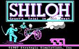Shiloh: Grant's Trial in the West DOS Initial title screen (CGA, RGB)