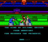 Cadash TurboGrafx-16 Intro: the king and the warriors