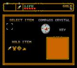 Neutopia II TurboGrafx-16 Inventory menu
