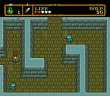 Neutopia II TurboGrafx-16 Go through the narrow corridor and kill the snakes