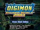 Digimon World 3 PlayStation Title Screen (PAL version)