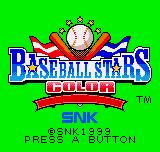 Baseball Stars Neo Geo Pocket Color The Title Screen.