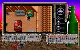 Bad Blood DOS Talking to the shaman of a village. Select the topic of conversation from the menu with dialogue options