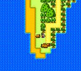 Momotarō Densetsu Turbo TurboGrafx-16 World map: you start on a peninsula