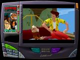 Ace Ventura: Pet Detective Windows Someone's knocking on the door.