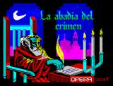 La Abadía del Crimen ZX Spectrum Title Screen