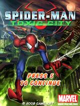 Spider-Man: Toxic City J2ME Title screen