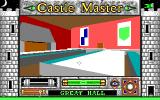 Castle Master DOS Great Hall, one of the many rooms you'll be able to explore and search in the castle.
