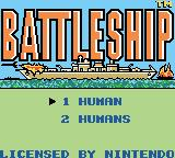 Battleship: The Classic Naval Combat Game Game Boy Color Title screen/main menu