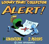 Looney Tunes Collector: Alert! Game Boy Color Title screen/main menu
