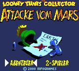 Looney Tunes Collector: Alert! Game Boy Color German title screen