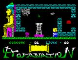 Abu Simbel Profanation ZX Spectrum Starting game