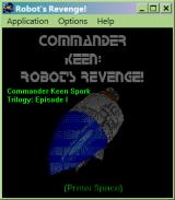 Commander Keen: Robot's Revenge! Windows Title screen (with an animated clip as a background)