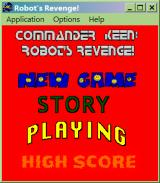 Commander Keen: Robot's Revenge! Windows Main menu