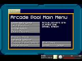 Arcade Pool DOS Main Menu