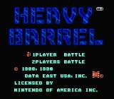 Heavy Barrel NES Title Screen
