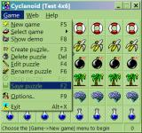 Cyclanoid Windows The menu opened (v4.0)